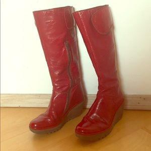 Fly London Patent Leather Boots